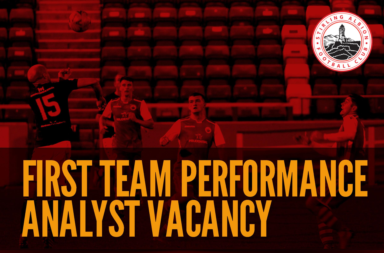Performance Analyst vacancy